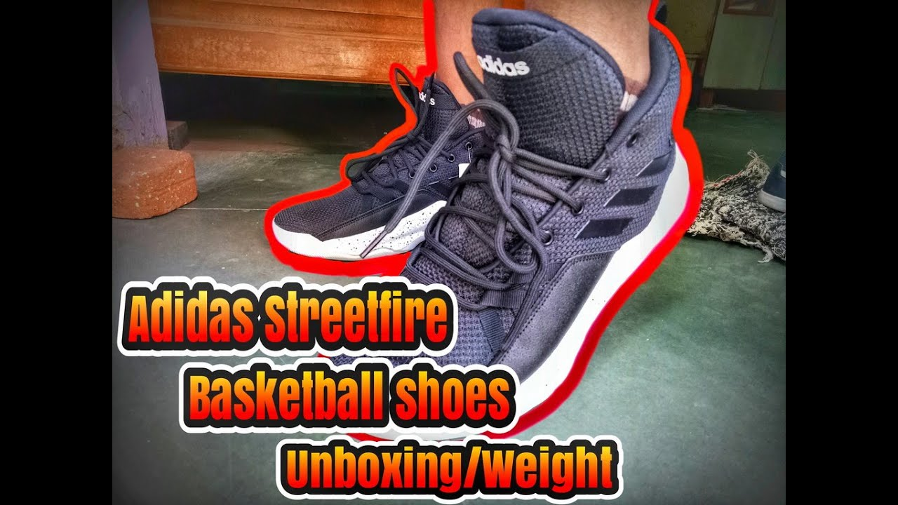 c55ae6e3 Adidas Streetfire Basketball Shoes Unboxing weight? quality? review.FULL HD  1080P