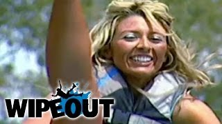 Cheerleader Loses Her Pants | Wipeout HD