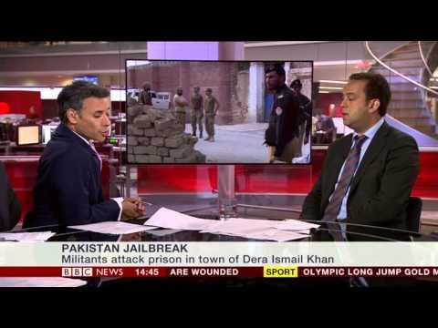 Barak Seener Interview. Al Qaeda Jail break. BBC News Channel July 30, 2012