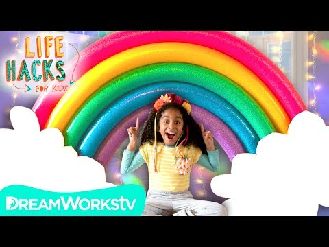GIANT Rainbow + More Room Decorating Hacks | LIFE HACKS FOR KIDS
