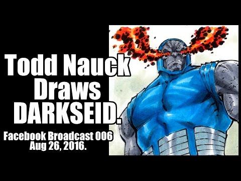 Todd Nauck Draws Darkseid. Facebook broadcast 006.