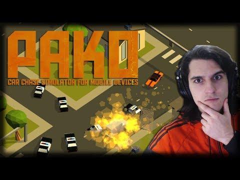 Jogando Pako: Car Chase Simulator - Jogo Mobile Grátis - Perseguições em Alta Velocidade!!