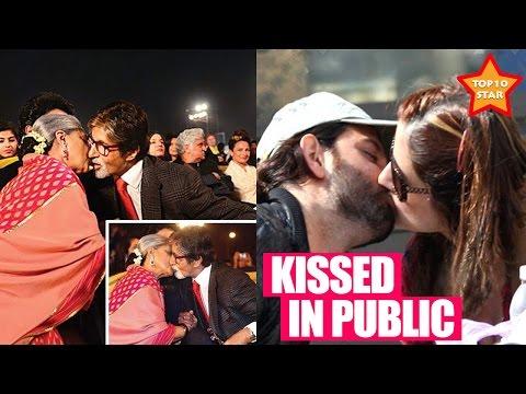 Famous celebrity who liplock in public kiss