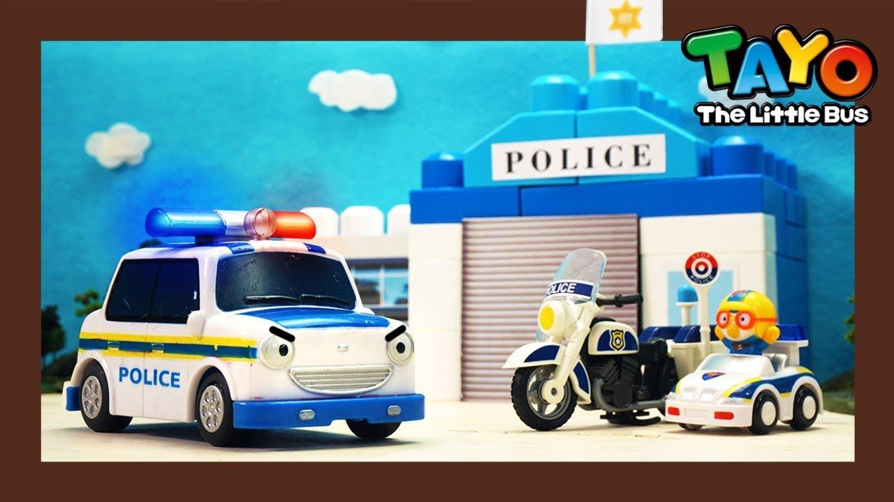 Tayo Kendaraan berat Mainan menunjukkan l #15 Membangun kantor polisi l Tayo Bus Kecil