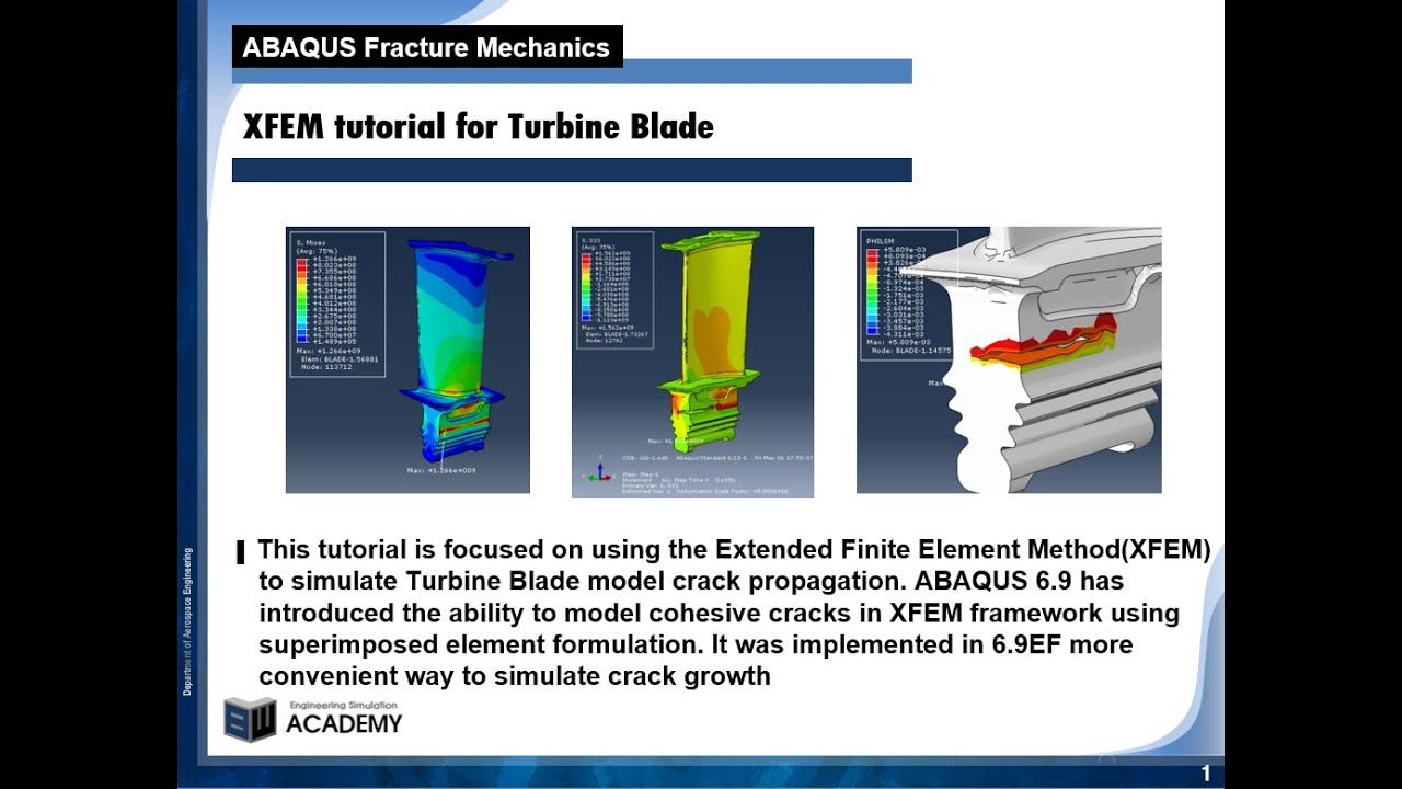 16-10 ABAQUS tutorial | XFEM | Turbine Blade | Fracture Mechanics | VCCT by  BW Lee