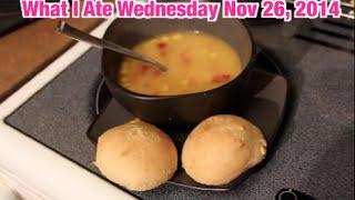 What I Ate Wednesday: Nov 26, 2014 - Apple Pie Smoothie & Homemade Buns!