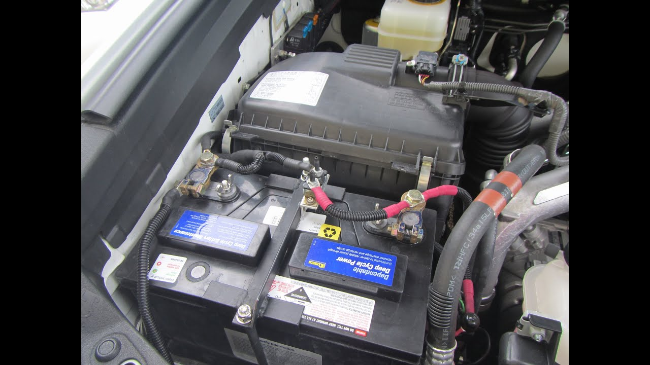 maxresdefault how to dual battery system land cruiser prado youtube prado 150 dual battery wiring diagram at gsmportal.co