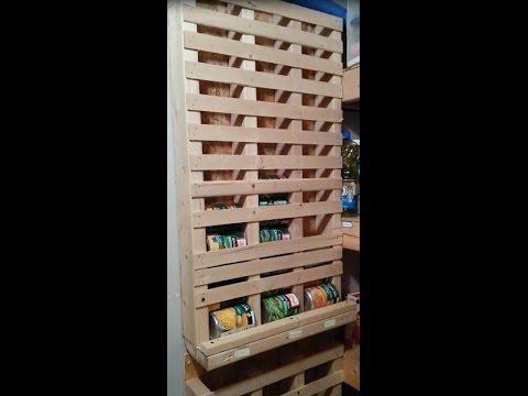 Pantry Magic!- Rotating Can Rack Organizer-  DIY