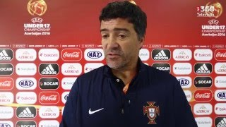 Hélio Sousa (Sub-17) Zona Mista Portugal-Escócia