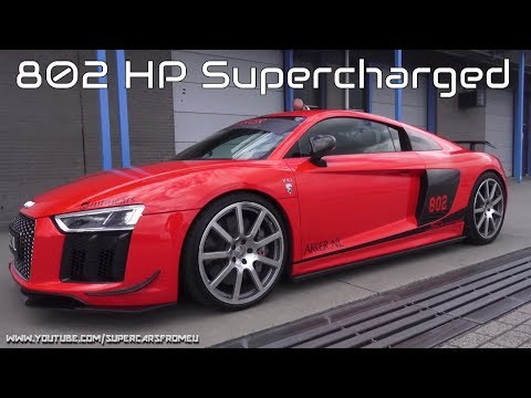 802 HP MTM Audi R8 V10 Plus Supercharged Full Throttle on Circuit!