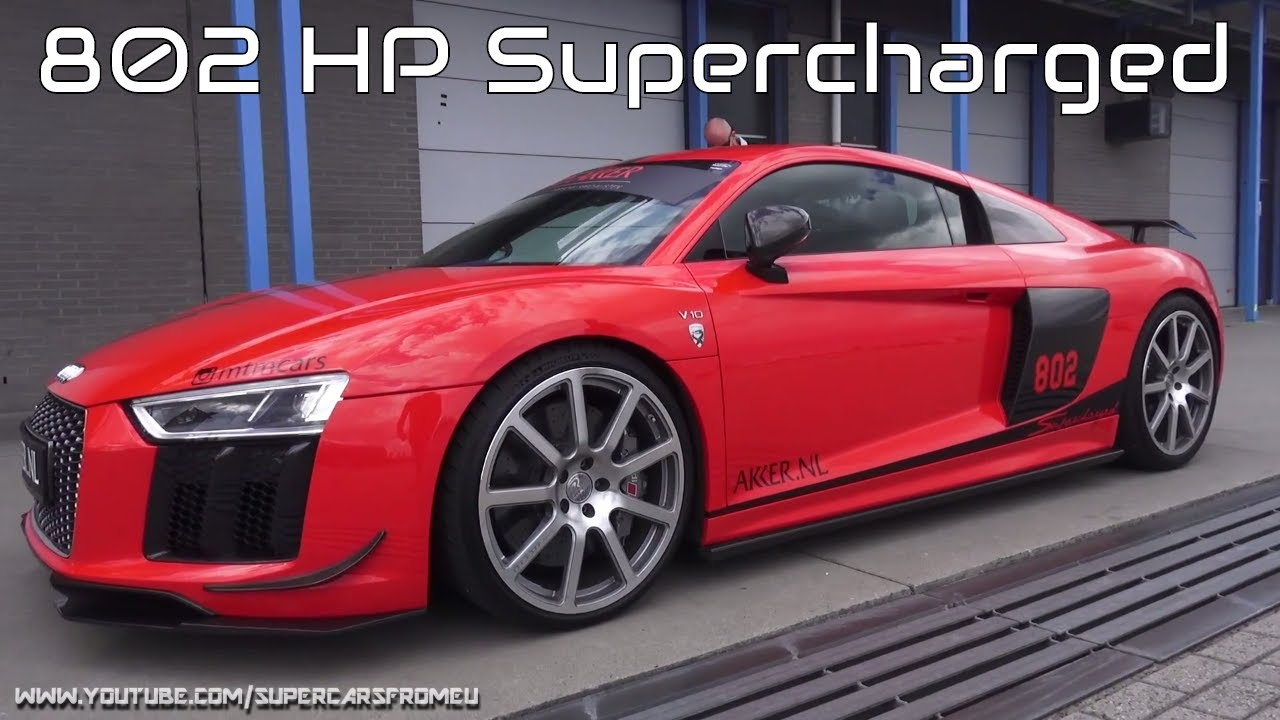 802 Hp Mtm Audi R8 V10 Plus Supercharged Full Throttle On Circuit