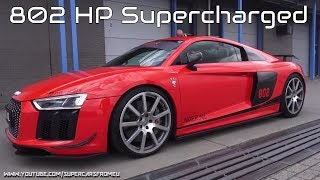 802 HP MTM Audi R8 V10 Plus Supercharged Full Throttle on Circuit!