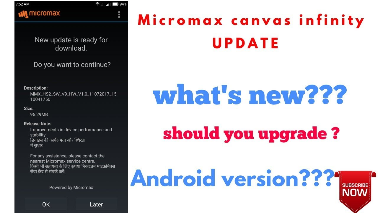 Micromax canvas infinity update !! What's new??!! Must watch