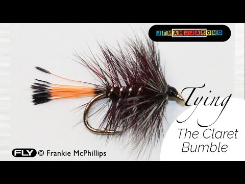 Instructions On Tying A Claret Bumble Trout Fishing Fly