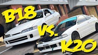 Oulton Park Track Battle! K20 DC2 vs High Comp B18 DC2!