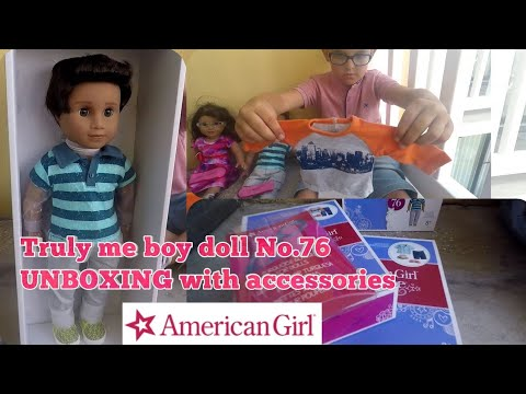 American Girl (boy) Truly Me Doll No.76 UNBOXING With Accessories