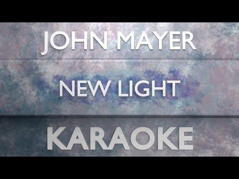 John Mayer - New Light (Karaoke)