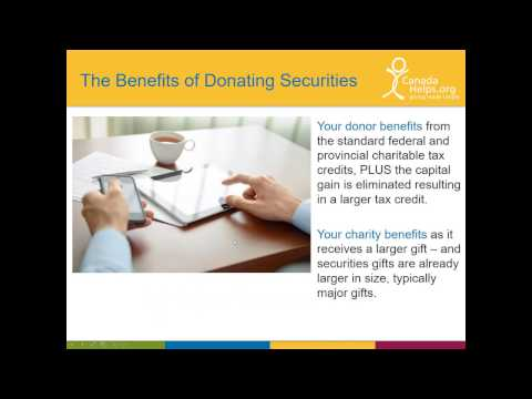 Securities Donations:  A 30 Minute Crash Course for Charities (2016)