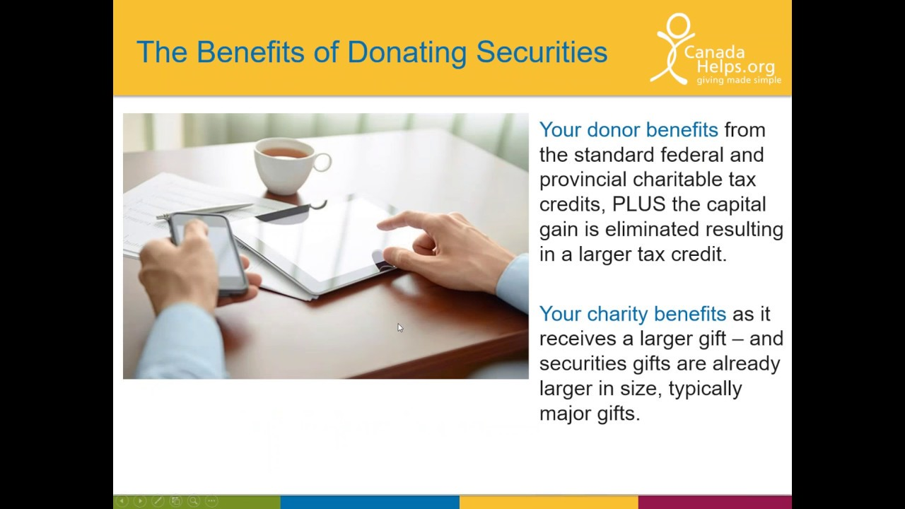 securities donations a 30 minute crash course for charities 2016