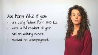 Tax 101 - Choosing Your State Income Tax Form in Wisconsin