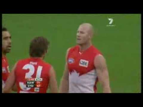 Barry Hall gives away 3 50 metre penalty