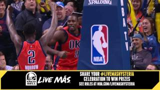 Taco Bell #LiveMasHYSTERIA; Ibaka Rises For The Monster Block