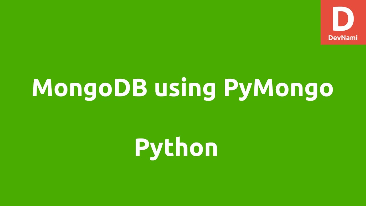 Python MongoDB using PyMongo