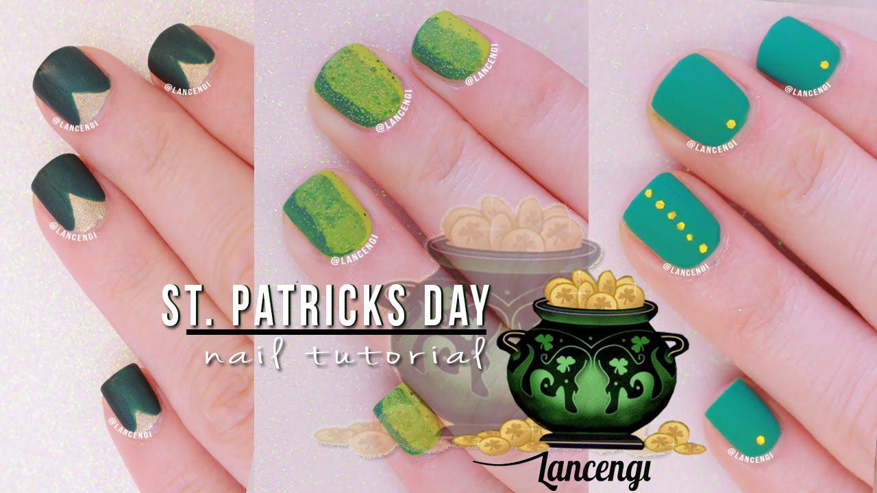Diy Cute Easy Nail Art For Beginners  No Tools St Patricks Day Polish Designs Youtube