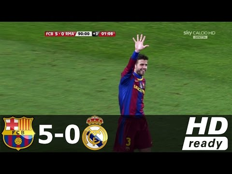 Barcelona vs Real Madrid 5-0 - All Goals & Extended Highlights - Archive 29/11/2010 HD