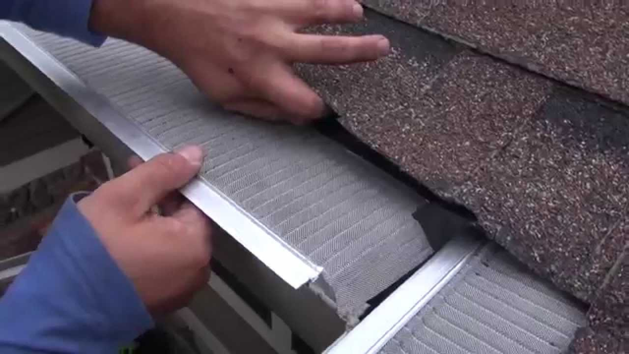 Easyon gutterguard installing on asphalt shingle roof youtube solutioingenieria