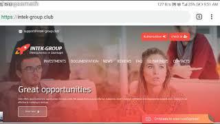 How to make money online on intek-group 5$ - 10$|12k ks