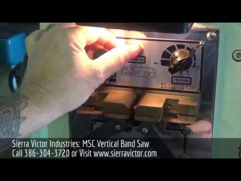 Sierra Victor Industries MSC Vertical band saw - YouTube
