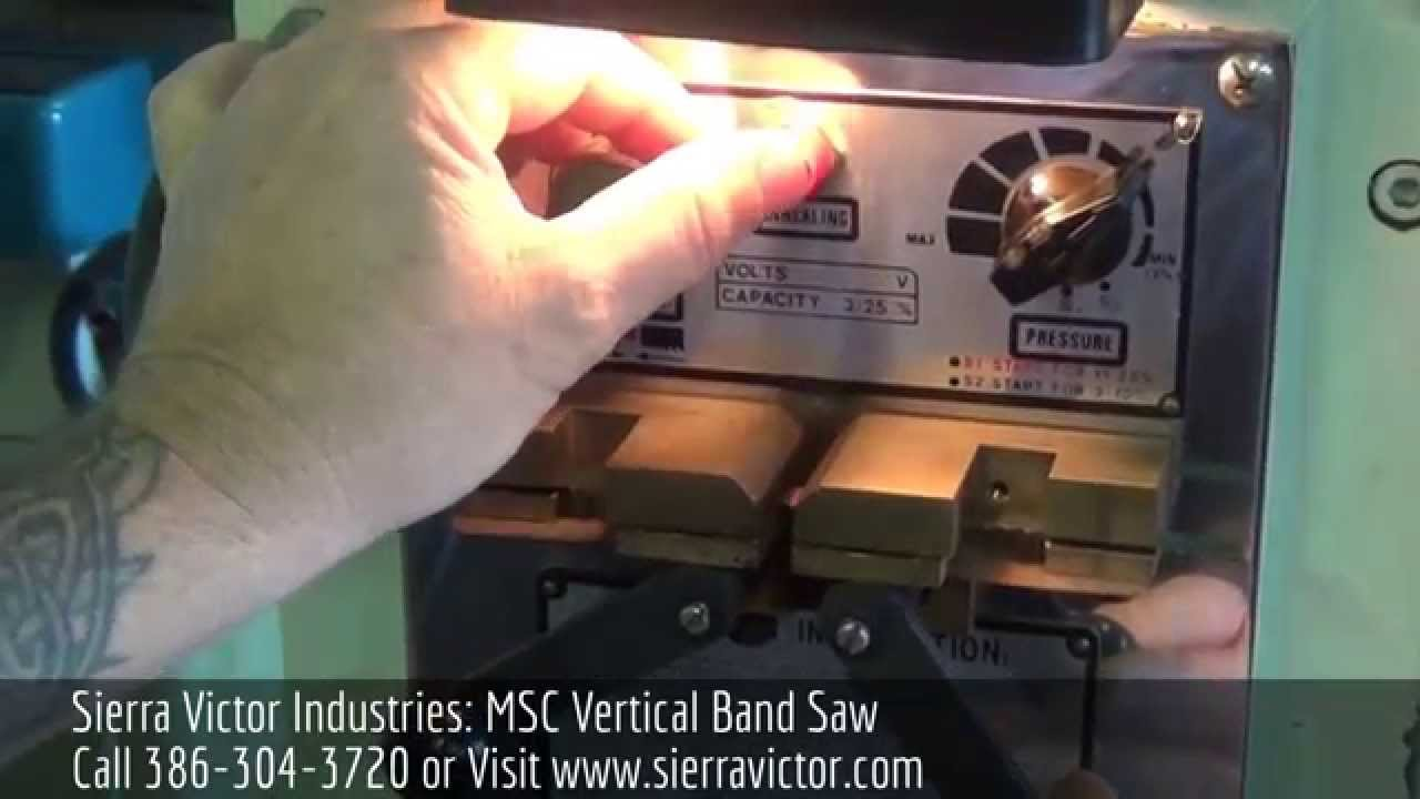 Sierra Victor Industries MSC Vertical band saw