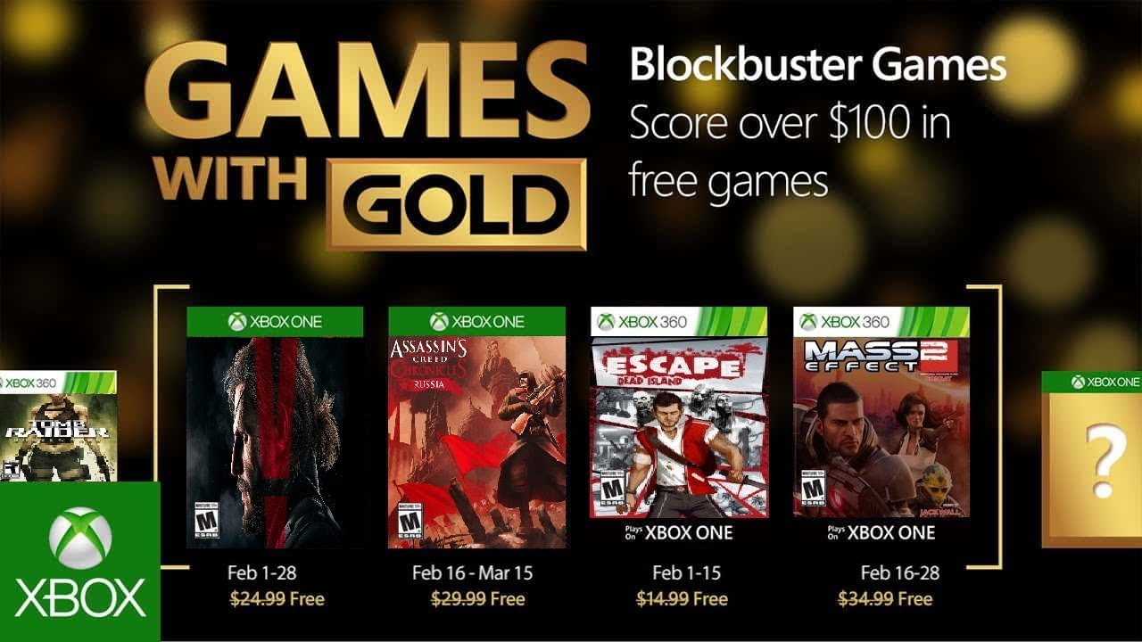 The Games With Gold For February 2018 Xbox One And 360