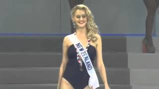 Casey Radley Miss New Zealand International 2013 in swimsuit