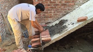 Traditional Techniques Craft Skills Construction Plans Available - Building Step Stairs With Brick