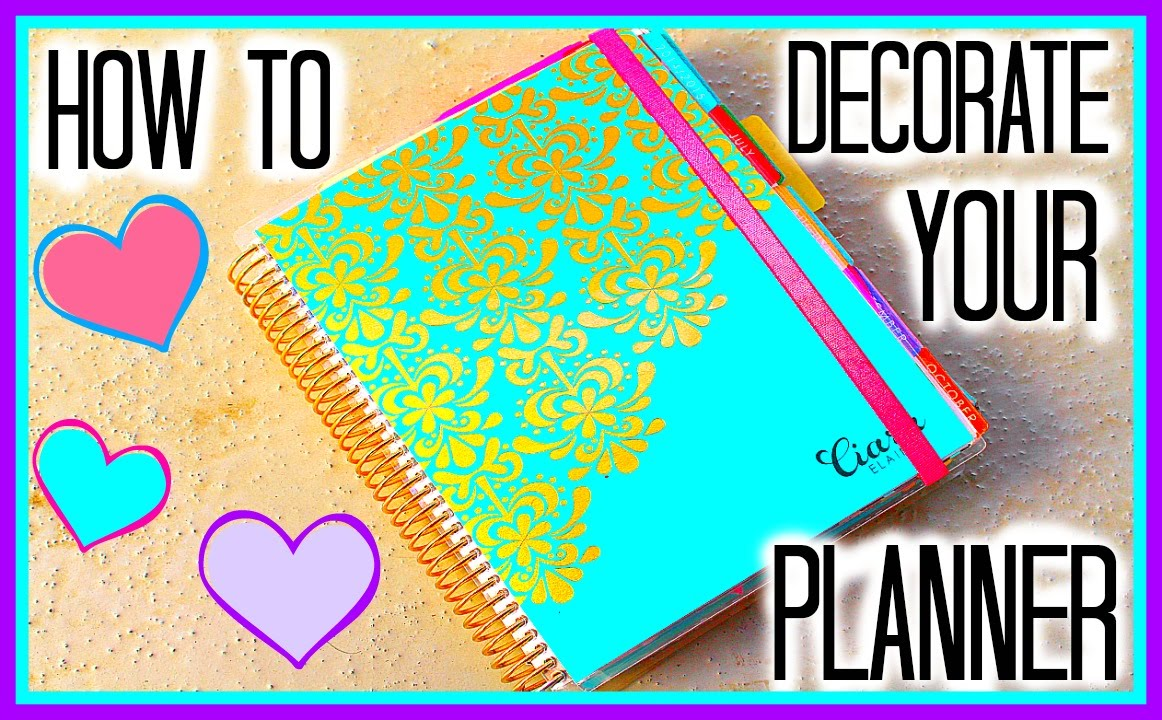 How to decorate your erin condren planner youtube for How to decorate