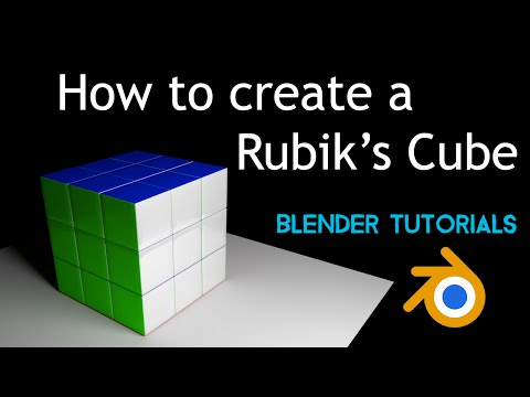 How to make a Rubik's cube using Blender