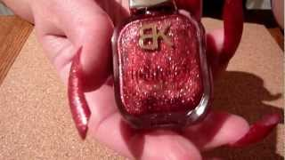 Review Of Born Pretty Store Red Shimmer Glitter Crystal Sand Foil Nail Polish #21 HD Video