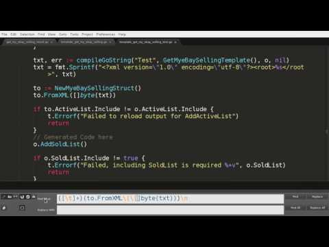 Non-Trivial Tutorial: Using Regex to rewrite code in Sublime Text Editor