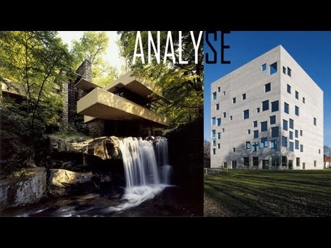 Analyse : Falling water - Frank Lloyd Wright ( et Zollverein school of design - SANAA).