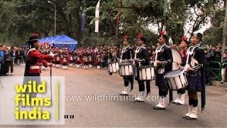 Bagpipe Band of Scottish Universities Mission Institution from Kalimpong, India