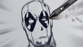 TUTORIAL DE DESENHO: Deadpool como nas comics! #3