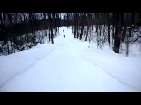 Sakte skiing Chelsea Quebec Parc backcountry deep snow