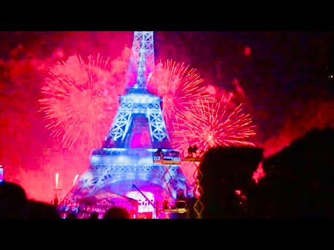 14th July Eiffel Tower Firework Amazing Display Bastille Day Paris France