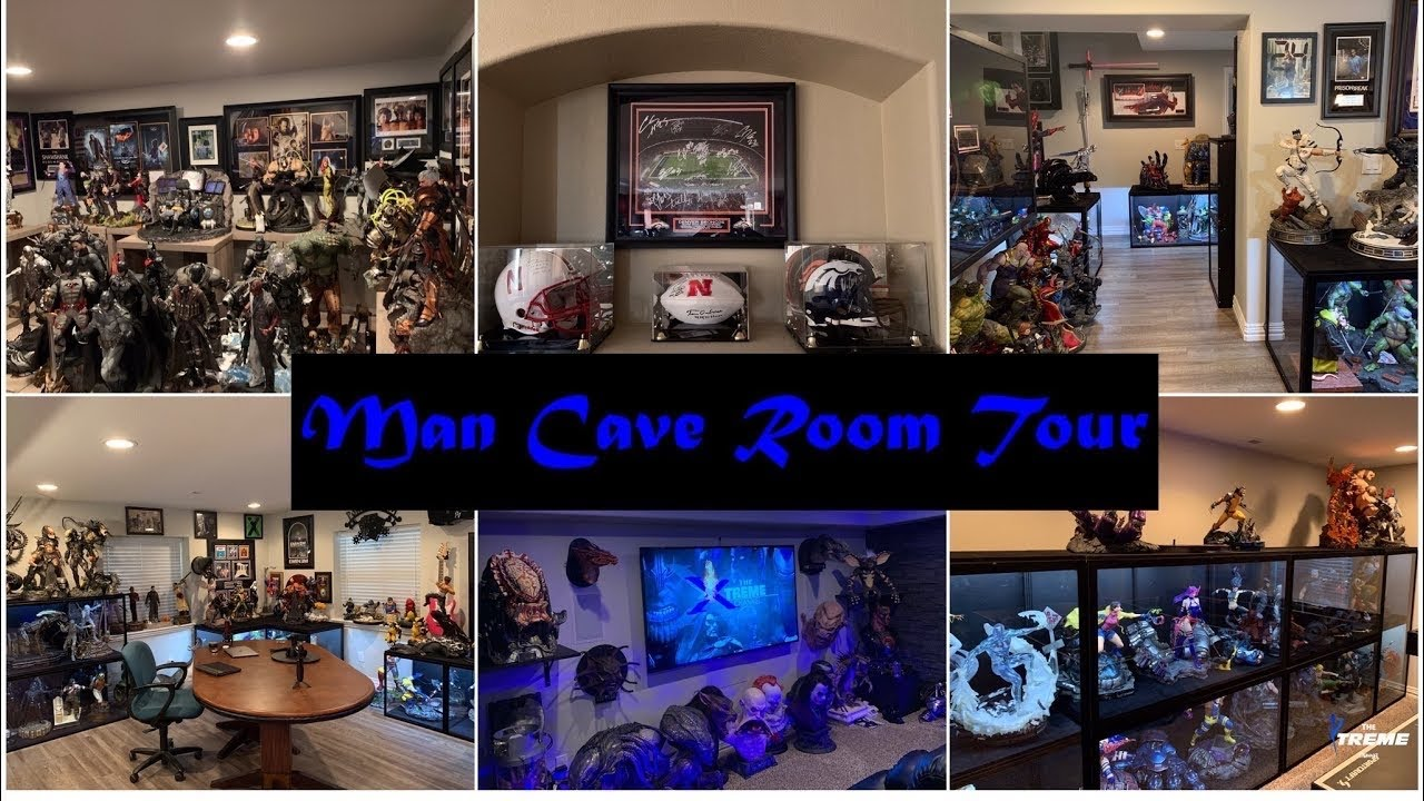Download Hundreds of Thousands of $$ in High End Collectibles and Memorabilia. Man Cave Statue Room Tour - 4K
