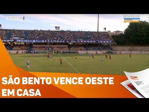 São Bento vence Oeste em casa - TV SOROCABA/SBT