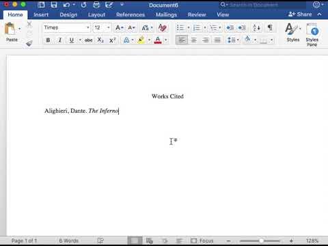 MLA Format Work Cited Book Entry Translation - YouTube