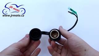 Zásuvka 12V / 15A, max. 120W, Ø 18mm, kabel 130mm, HS-349050