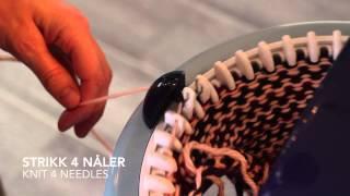Hvordan strikke sokker (tovet) / How to knit socks (felted) - Prym Maxi knitting mill